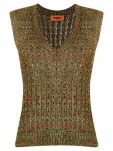 Missoni v-neck knitted vest top - Green