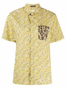 R13 floral short-sleeve shirt - Yellow