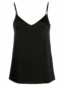 Federica Tosi striped V-back top - Black