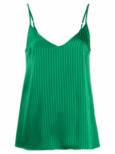 Federica Tosi striped V-back top - Green