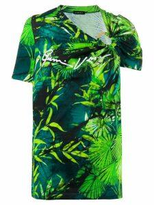 Versace botanical-print top - Green