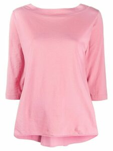 Roberto Collina cropped sleeve boxy fit top - PINK