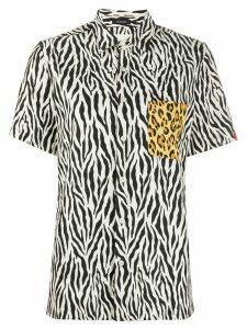 R13 animal print short-sleeve shirt - Black
