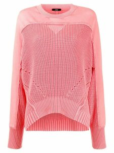 Diesel oversized combined jumper - PINK
