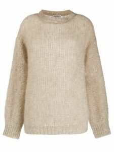 Brunello Cucinelli sequinned jumper - NEUTRALS