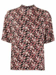 Calvin Klein mock neck floral print top - Black