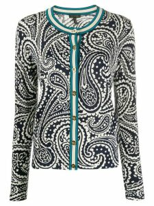 Escada paisley-print knitted cardigan - Blue