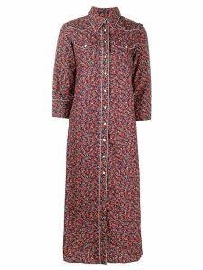 R13 floral shirt dress - Blue