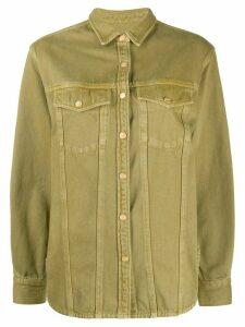 Closed panelled denim shirt - Green