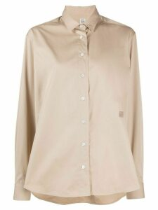 Totême logo long-sleeve shirt - NEUTRALS