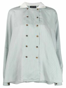 Giorgio Armani double breasted blouse - White
