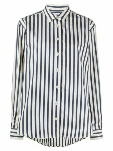 Totême striped long-sleeve shirt - Blue