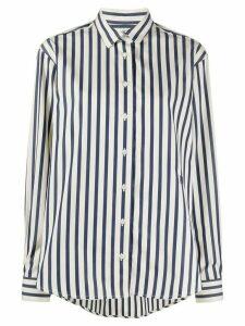 Totême striped long-sleeve shirt - Blue