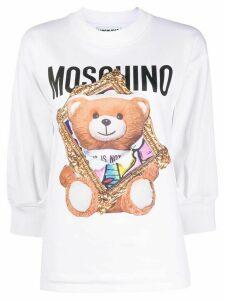 Moschino Teddy logo print sweatshirt - White