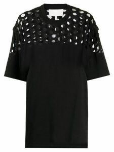 Maison Margiela perforated oversized T-shirt - Black
