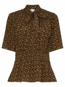 Burberry Kira pussy bow blouse - Brown