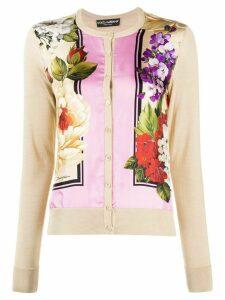 Dolce & Gabbana floral print cardigan - NEUTRALS