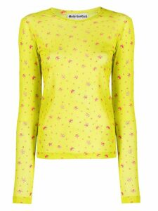 Molly Goddard floral mesh T-shirt - Yellow