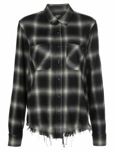 AMIRI Shadow distressed plaid shirt - Black
