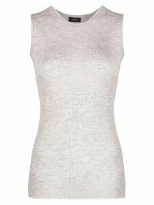 Joseph sleeveless knitted top - Grey