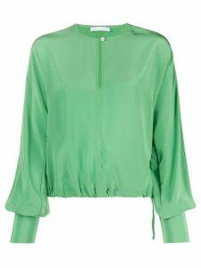 Société Anonyme silk long sleeve blouse - Green