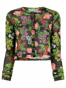 Molly Goddard Malina floral-intarsia cardigan - Black