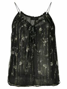 AMIRI floral V-neck slip top - Black