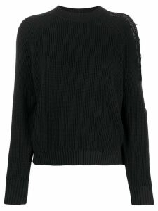 Pinko ribbed cut-out jumper - Black