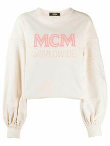 MCM logo-print oversized sweatshirt - NEUTRALS