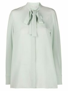 Etro tie-neck crepe blouse - Green