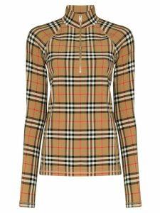 Burberry Vilan Vintage Check half-zip top - Brown