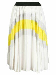 Karl Lagerfeld colour-block pleated skirt - White
