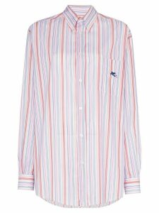 Etro striped button down shirt - ORANGE