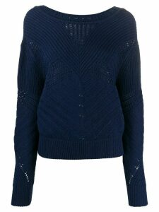 Barrie textured knit jumper - Blue