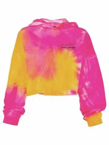 MISBHV tie-dye cropped hooded sweatshirt - PINK