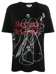 Alexander McQueen drawing print T-shirt - Black