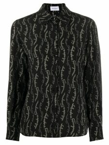 Salvatore Ferragamo logo-printed shirt - Black