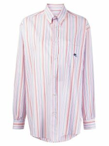 Etro long sleeve striped pattern shirt - White