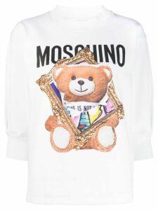 Moschino teddy print sweatshirt - White