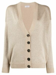 Brunello Cucinelli button-up long sleeve cardigan - NEUTRALS