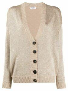 Brunello Cucinelli button-up long sleeve cardigan - NEUTRALS