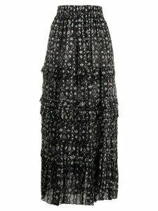Isabel Marant Étoile abstract-print flared skirt - Blue