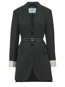 Prada belted single-breasted jacket - Grey