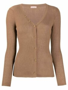 Drome long sleeve scoop neck cardigan - Brown