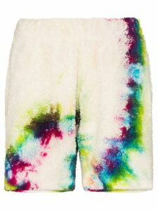 The Elder Statesman Sherpa tie-dye shorts - White