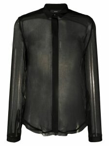 Diesel C-Raily-Rouche sheer shirt - Black