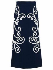 Prada Punto Stoffa knit skirt - Blue