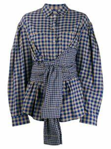Natasha Zinko oversized wrap-waist shirt - NEUTRALS