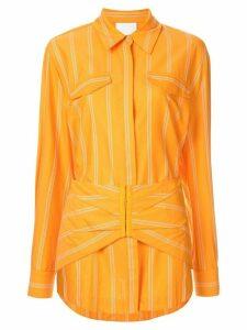 Acler Logan stripe print shirt - ORANGE