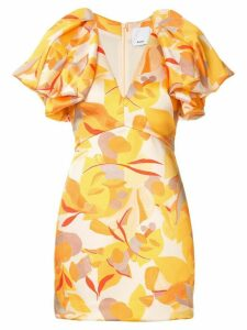 Acler Raven abstract-print mini dress - Yellow